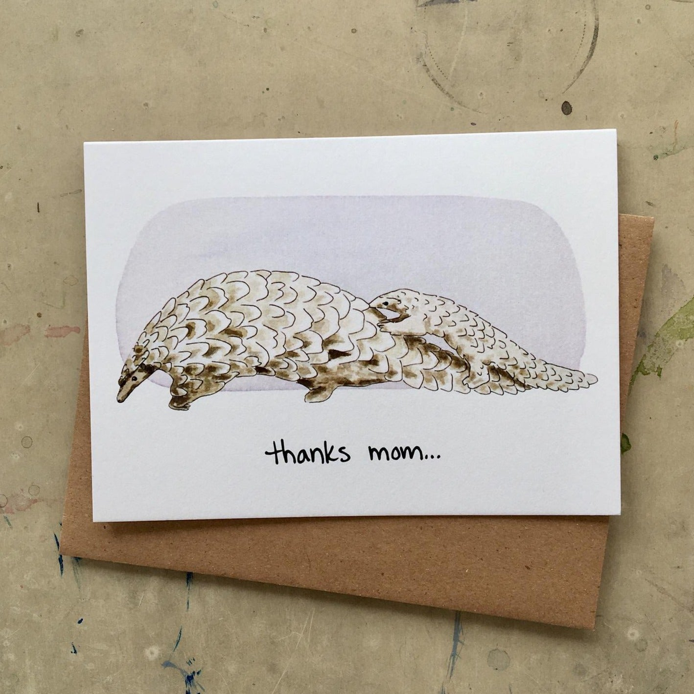 Pangolin Mom Card