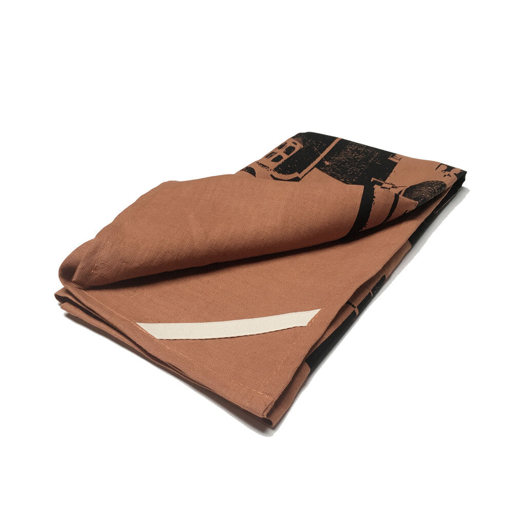 Call The Office Linen Tea Towel Copper