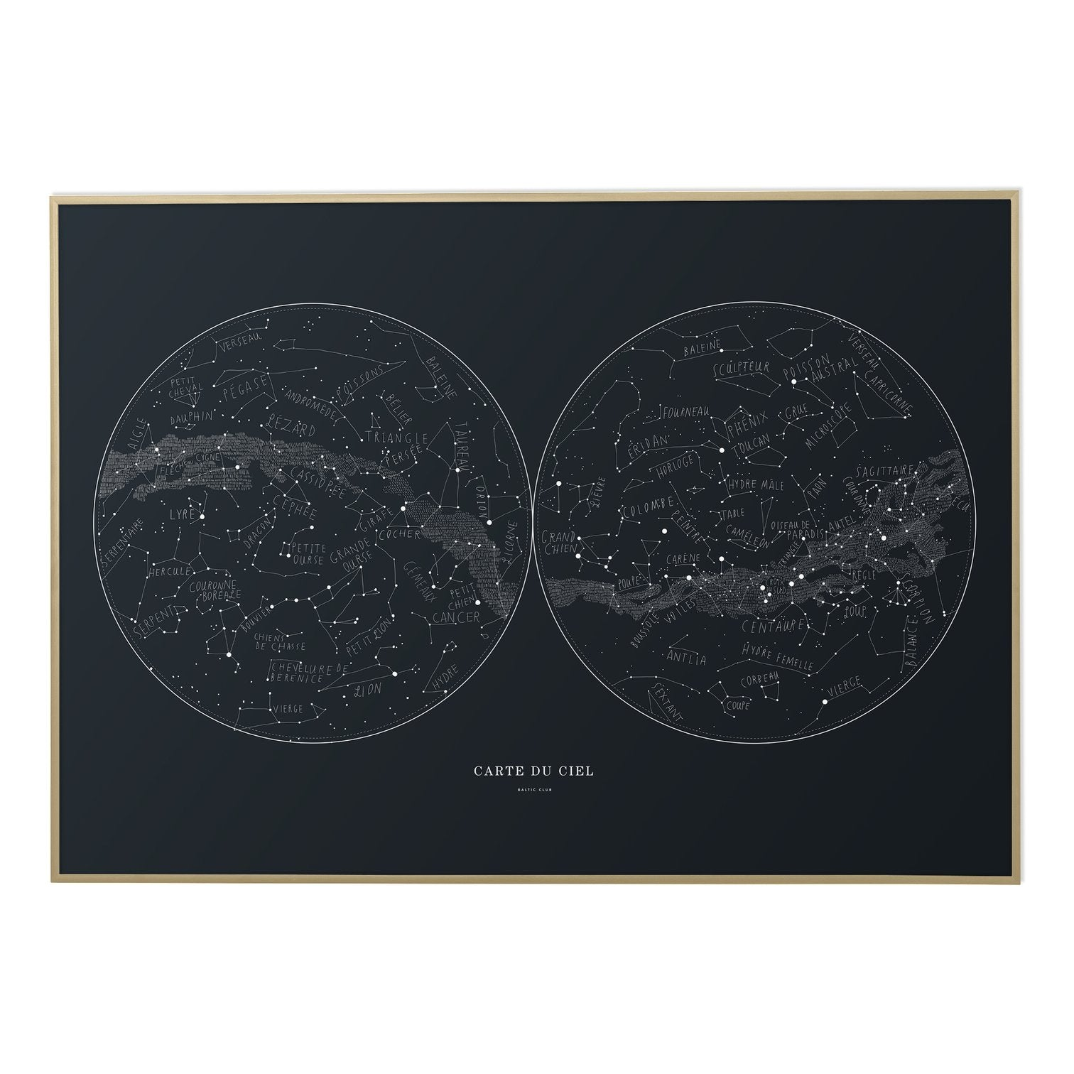 Carte Du Ciel Sky Map Print