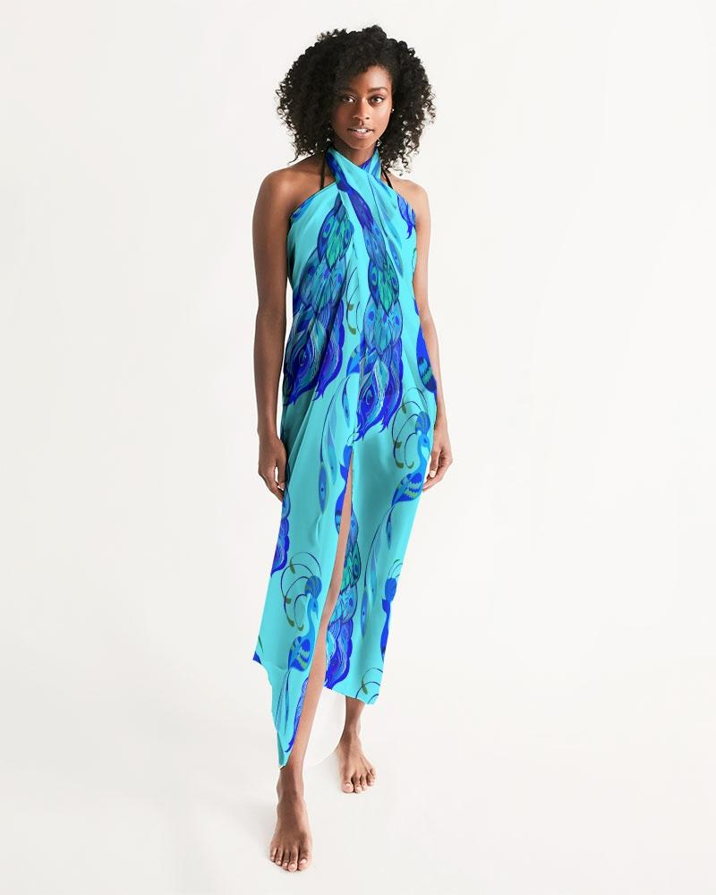 Light Blue Peacock Swim Cover Up freeshipping - PuaGme