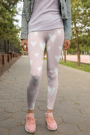 White Hearts Printed leggings, Capris and Shorts freeshipping - PuaGme