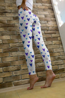 Falling Hearts Printed leggings, Capris and Shorts