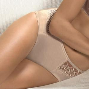 Sheer Side Mid Rise Brief Panty Conturelle Joy freeshipping - PuaGme