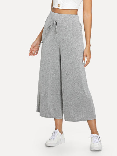Drawstring Wide Leg Pants freeshipping - PuaGme