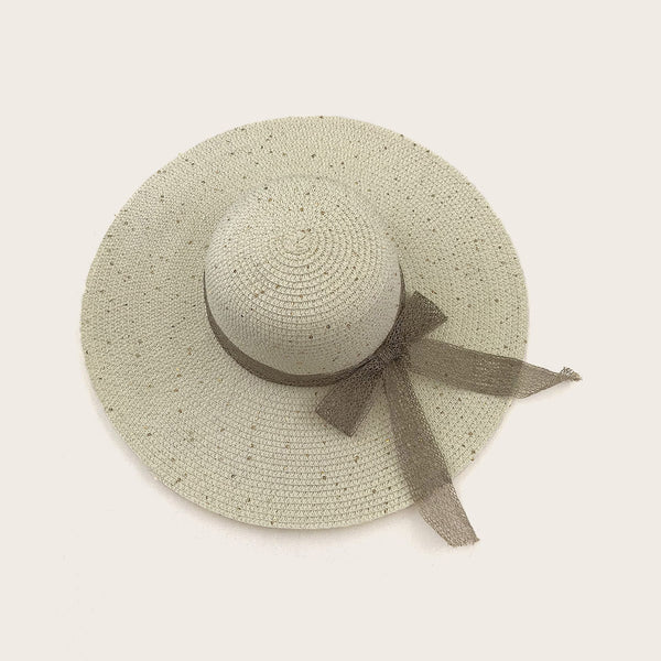 Bow Knot Wide Brim Straw Hat