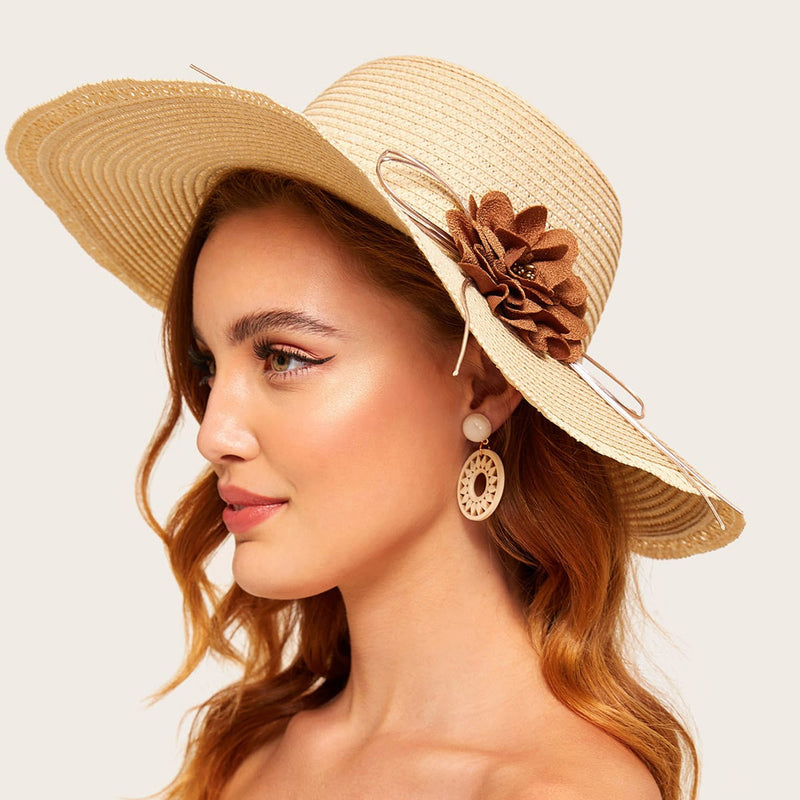 Floral Decor Straw Hat freeshipping - PuaGme