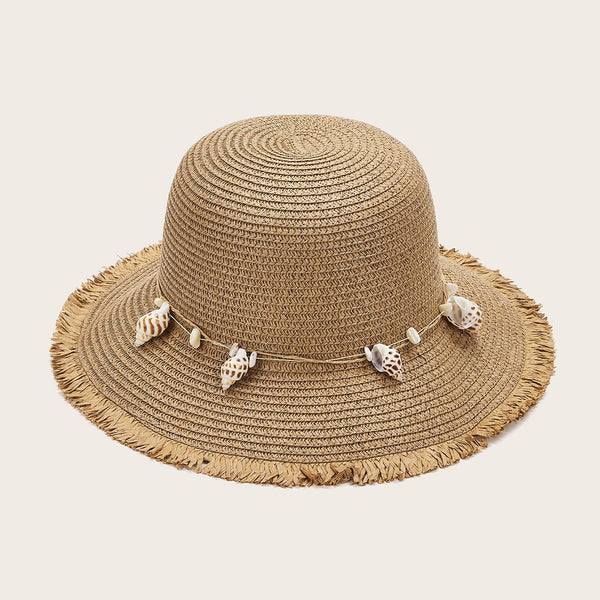 Shell Charm Straw Hat