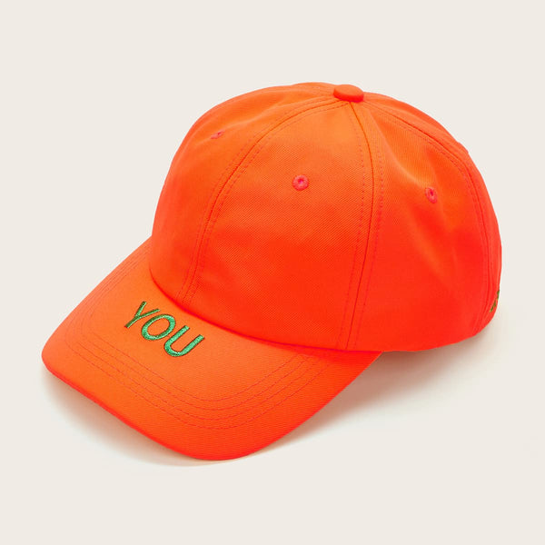 Neon Letter Embroidered Baseball Cap