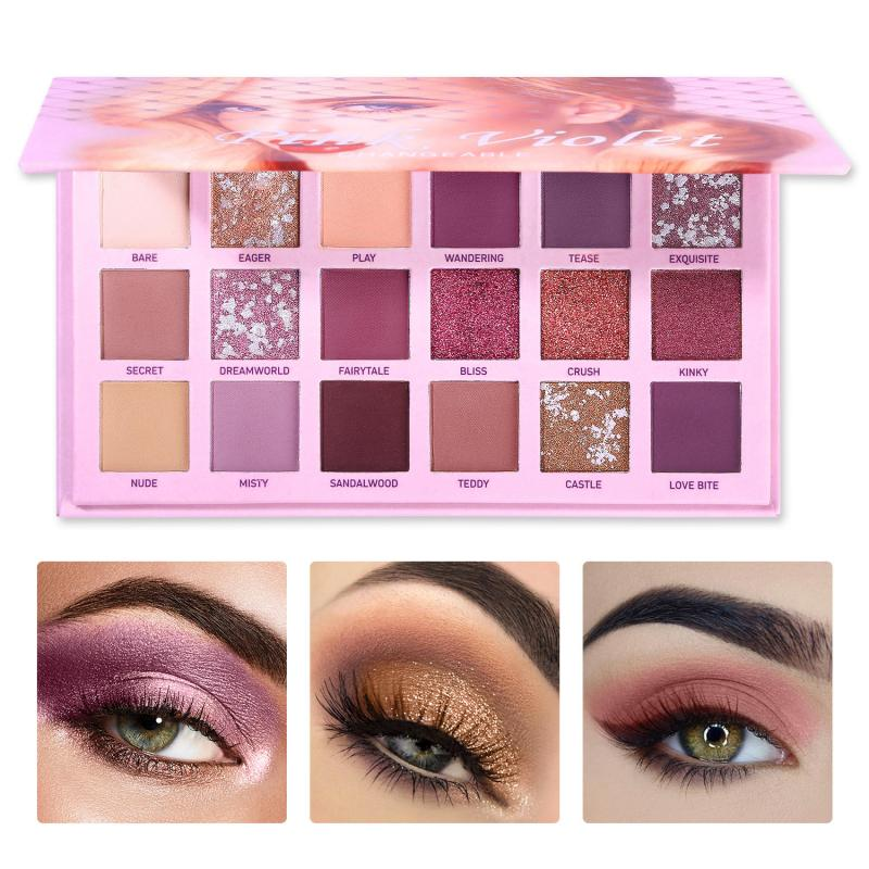 18 Colors Changeable Nude Eye Shadow Palette Eye freeshipping - PuaGme