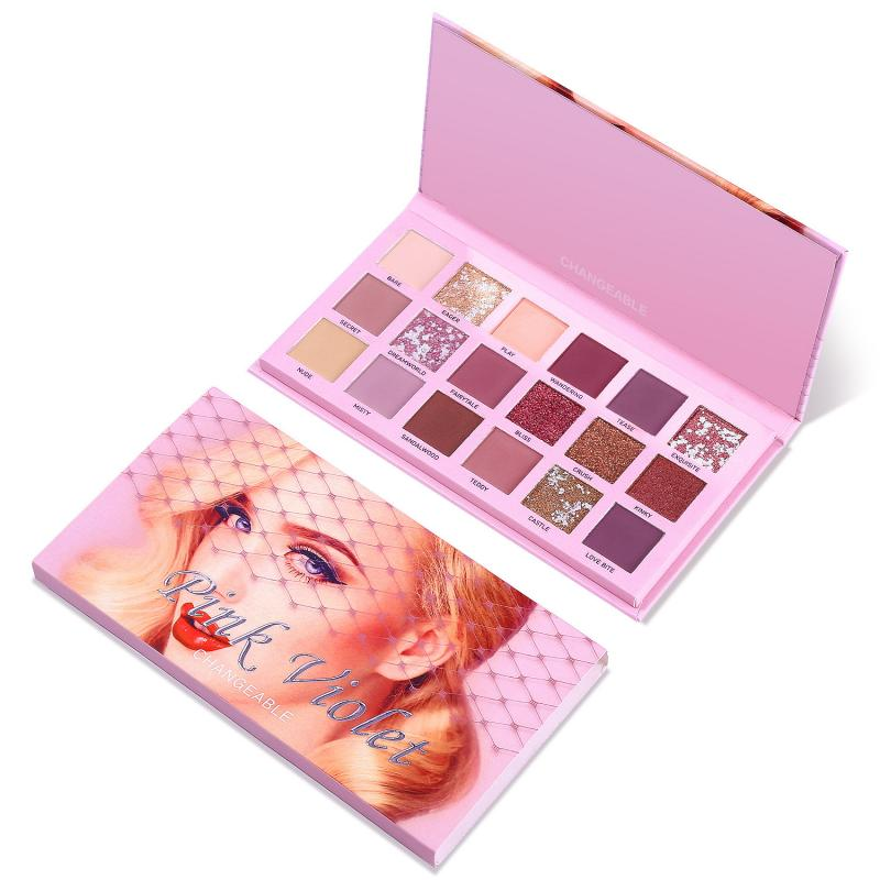 18 Colors Changeable Nude Eye Shadow Palette Eye