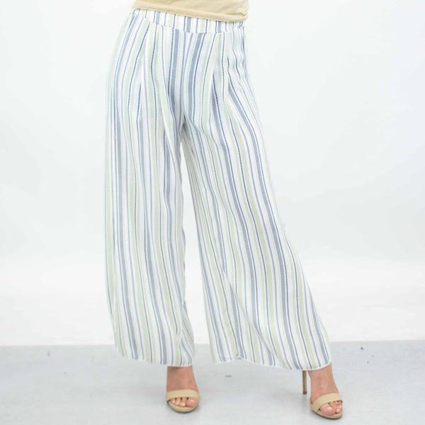 Side Slit Wide Leg Pants-Green freeshipping - PuaGme