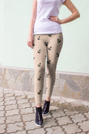 Beige Nautical leggings, Capris and Shorts freeshipping - PuaGme