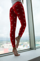 Red Nautical leggings, Capris and Shorts freeshipping - PuaGme