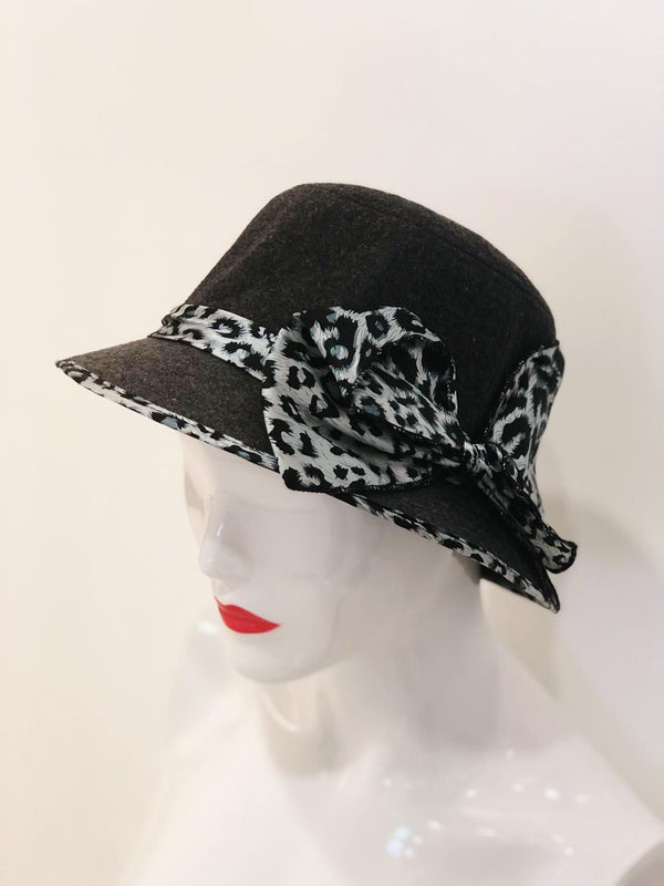 'Willow' Animal Print Bow Bucket Hat