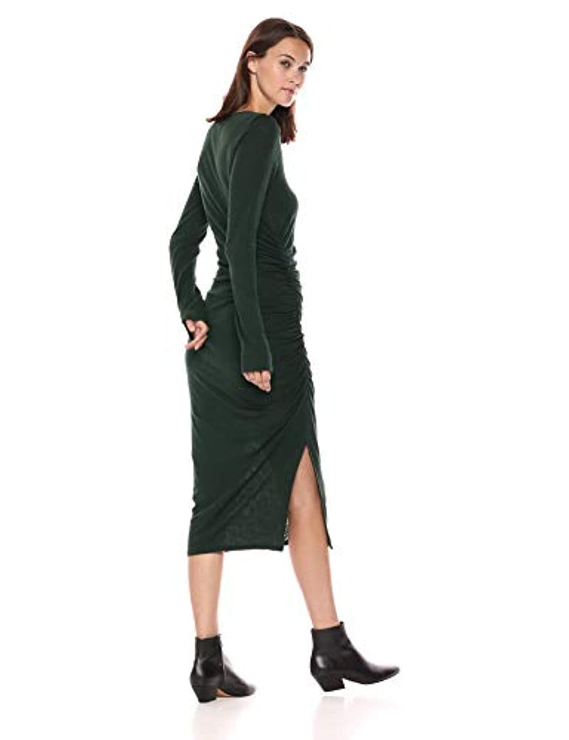 Three Dots Women's Vj5860 Eco Knit L/S Shirred Dress