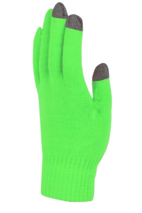 Peach Couture Vibrant Neon Touch Screen Knit Gloves in Bright Colors freeshipping - PuaGme
