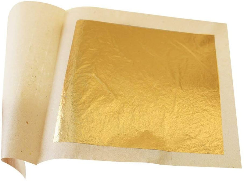 Edible Gold Leaf Sheets 30pc M-size 24 Karat 1.2 X 1.2 Genuine for Cooking,
