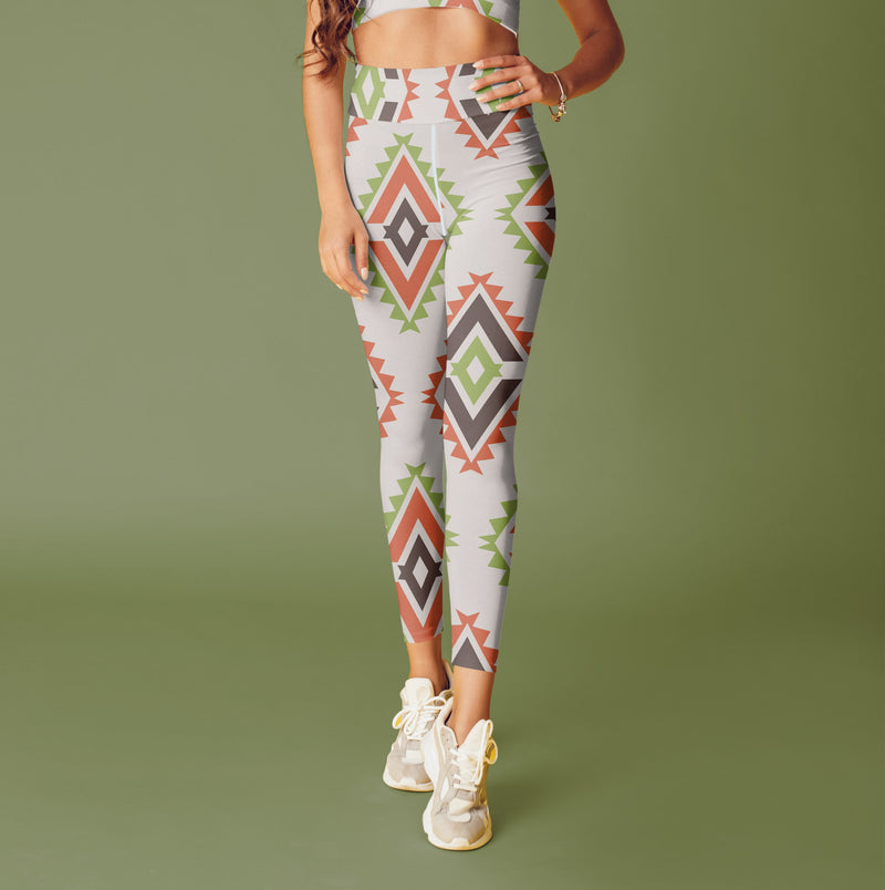 Boho Aztec leggings, Capris and Shorts