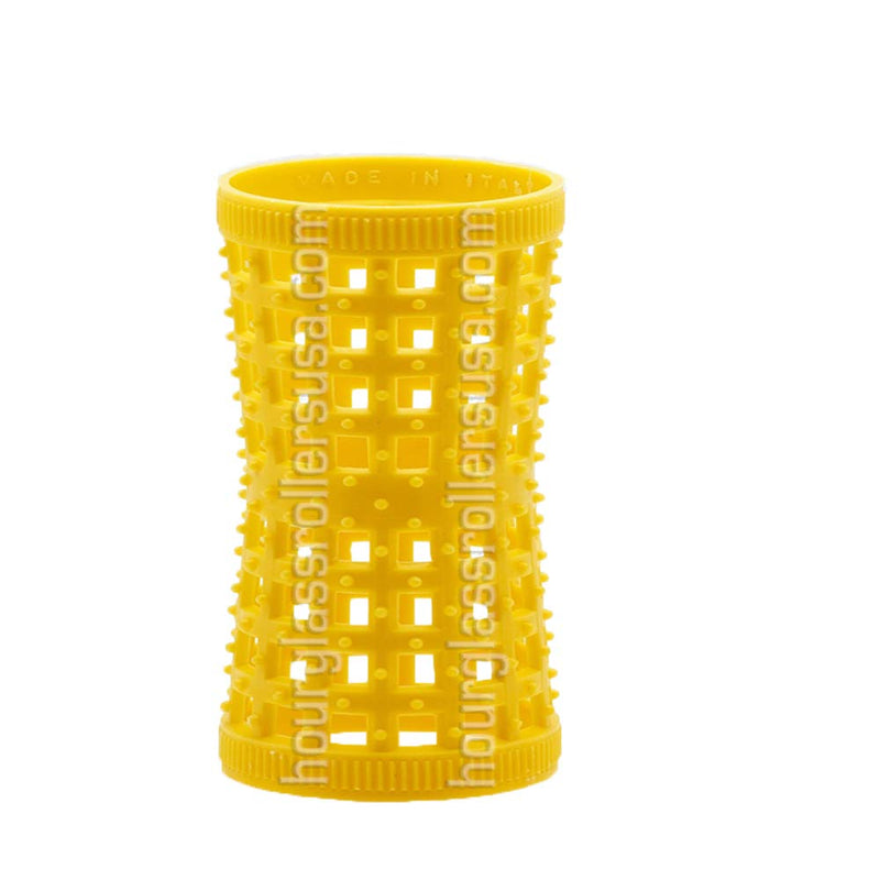 Hourglass Rollers (Yellow (1.06in/27mm) - Pack of 12 Rollers) freeshipping - PuaGme
