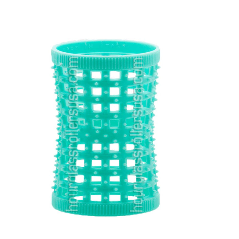 Hourglass Rollers (Aqua (1.26in/32mm) – Pack of 12 Rollers)