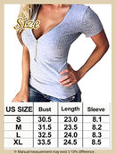 PT&Key Women's Short Sleeve Tops T-Shirts Zipper Deco Blouse Inner Tee