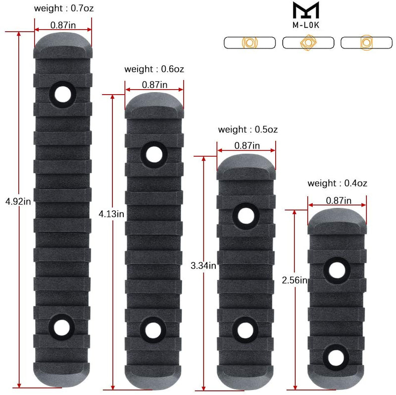 M Lock Picatinny Rail Polymer Section Kit Magpul Magazine Injection Molded Set.