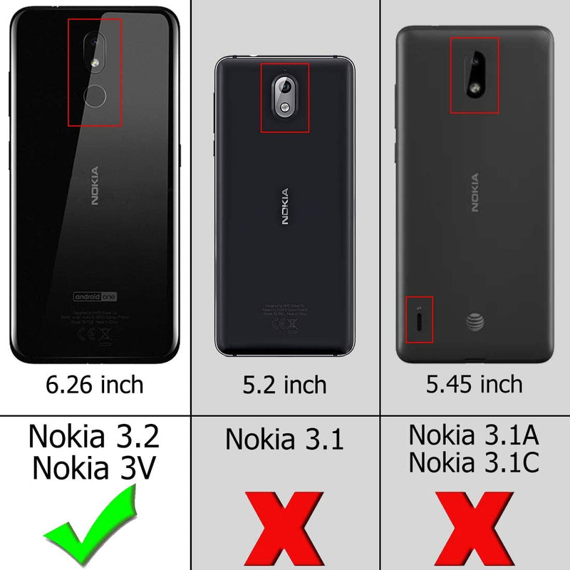 Nokia 3.2 3V Case Heavy Duty Impact Resistant Shock Absorption Protective Cover