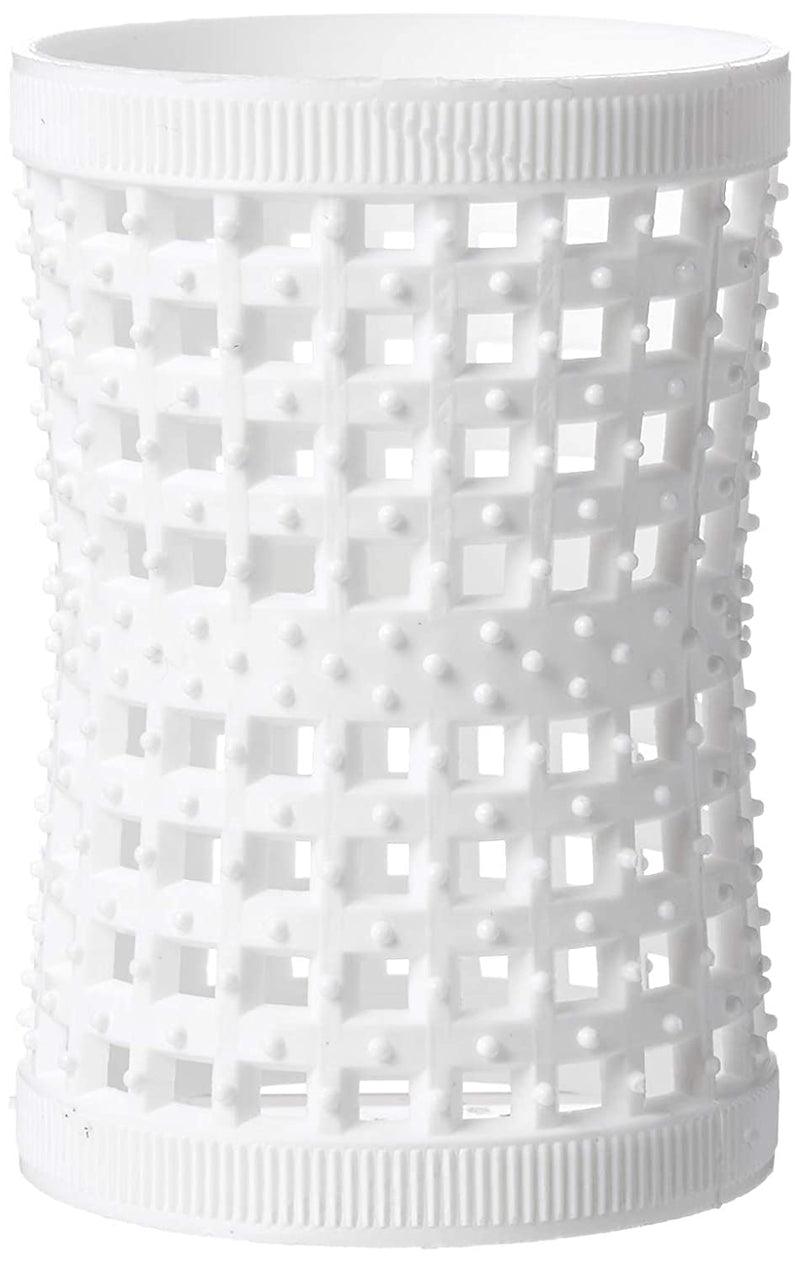 White Hourglass Mesh Tension Rollers - 1.85inches (47mm) (6 Rollers per pack)