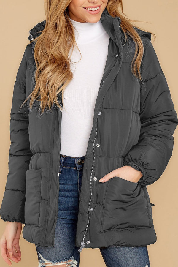 Women Gray Winter Puffer Jacket