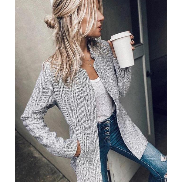 Women Long Sleeve Autumn Winter Coat