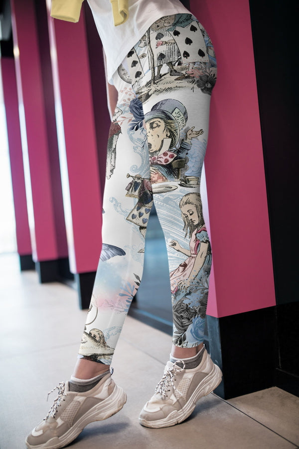 Alice in Wonderland Leggings, Capris and Shorts freeshipping - PuaGme