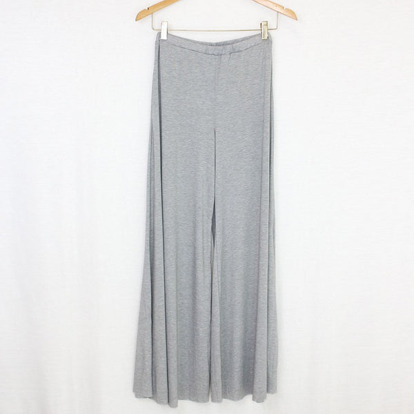 Elastic Waist Wide Leg Pants Grey freeshipping - PuaGme