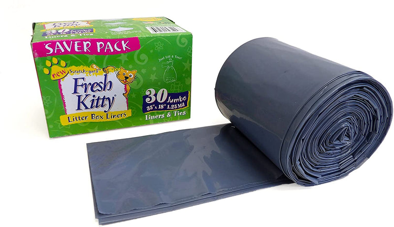 umbo Scented Litter Pan Box Liners Ultra Thick Scratch Guard Clean 30 Count