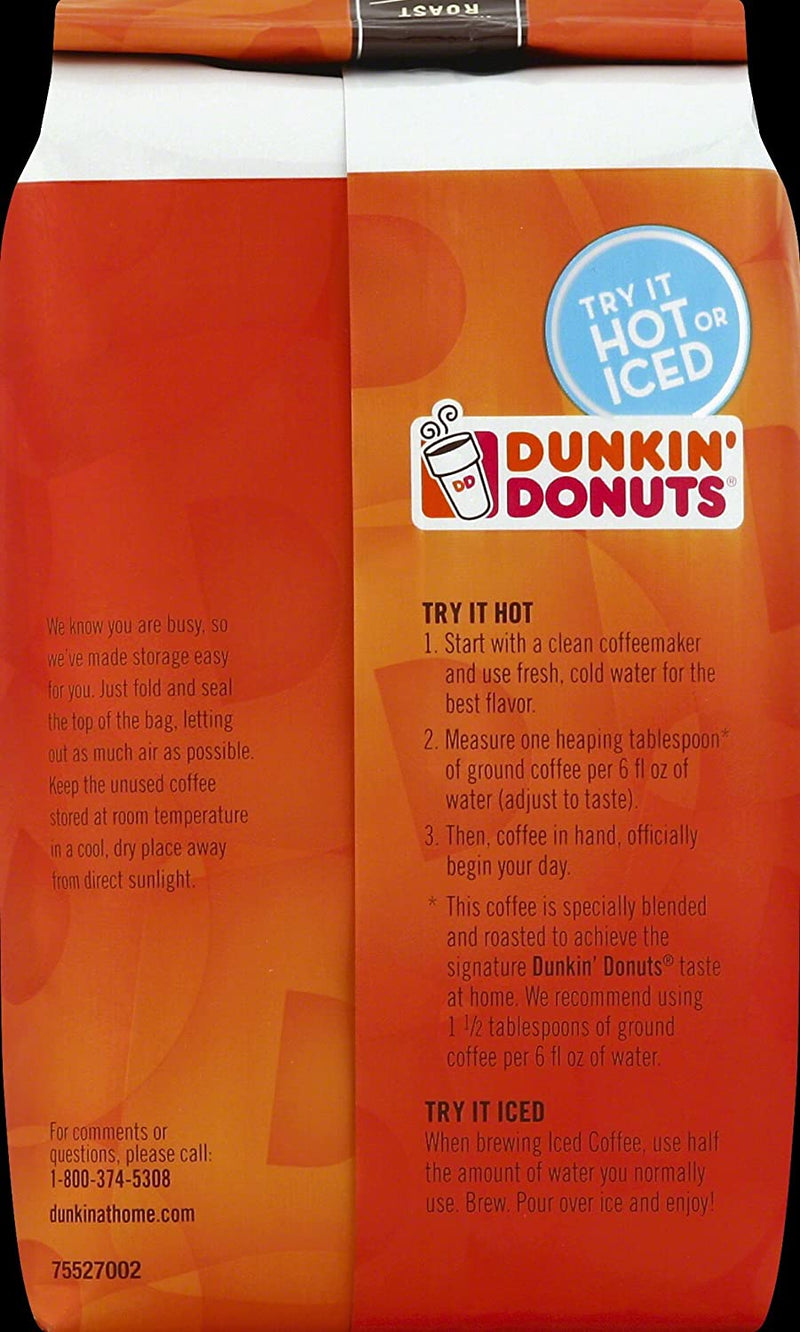 Dunkin' Donuts Original Blend Ground Coffee, Medium Roast, 12 Ounce freeshipping - PuaGme