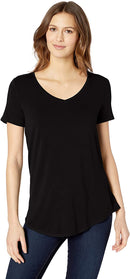 Essentials Women's Short-Sleeve V-Neck Tunic freeshipping - PuaGme