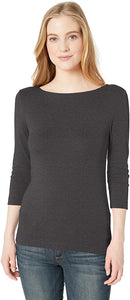 Amazon Essentials Women's Slim-fit 3/4 Sleeve Boatneck T-Shirt