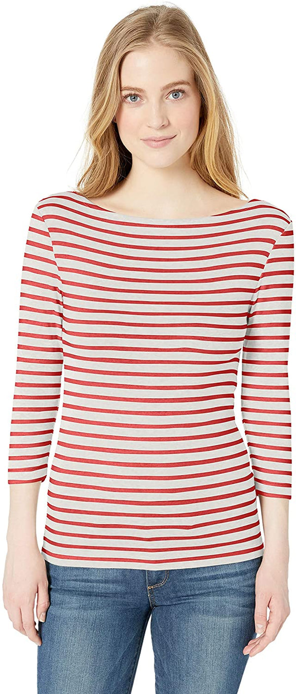 Amazon Essentials Women's Slim-fit 3/4 Sleeve Boatneck T-Shirt freeshipping - PuaGme