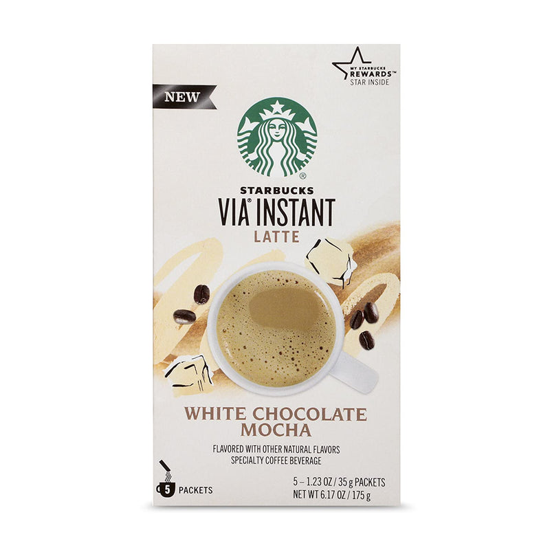 Starbucks VIA Instant White Chocolate Mocha Latte (1 box of 5 packets) USA