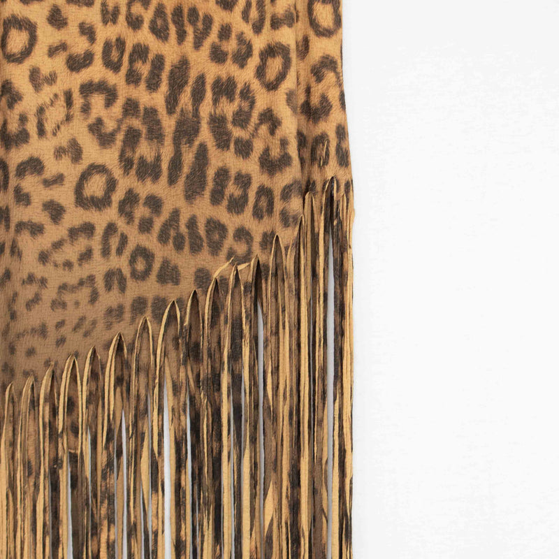 Animal Print Skirt with Fringe freeshipping - PuaGme