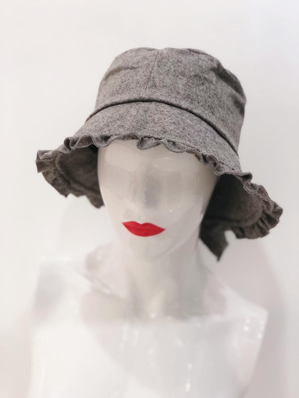 'Macy' Grey Bucket Hat