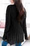 Winter Black Button Pocket Knit Cardigan