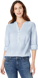 Amazon Essentials Women's Relaxed-Fit Lightweight 3/4 Sleeve Cotton Popover Tunic