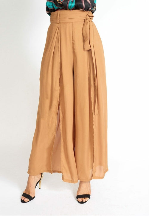 Alessandra Wide Leg Slit Pants freeshipping - PuaGme