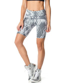 BERMUDA SHORTS 61 GEOMETRIC PRINTED BLACK