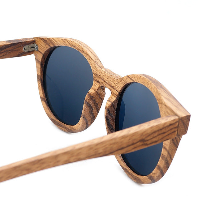 Mens Vintage Wooden Bamboo Sunglasses