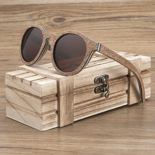 Unisex Sunglasses Wooden Cork Frame