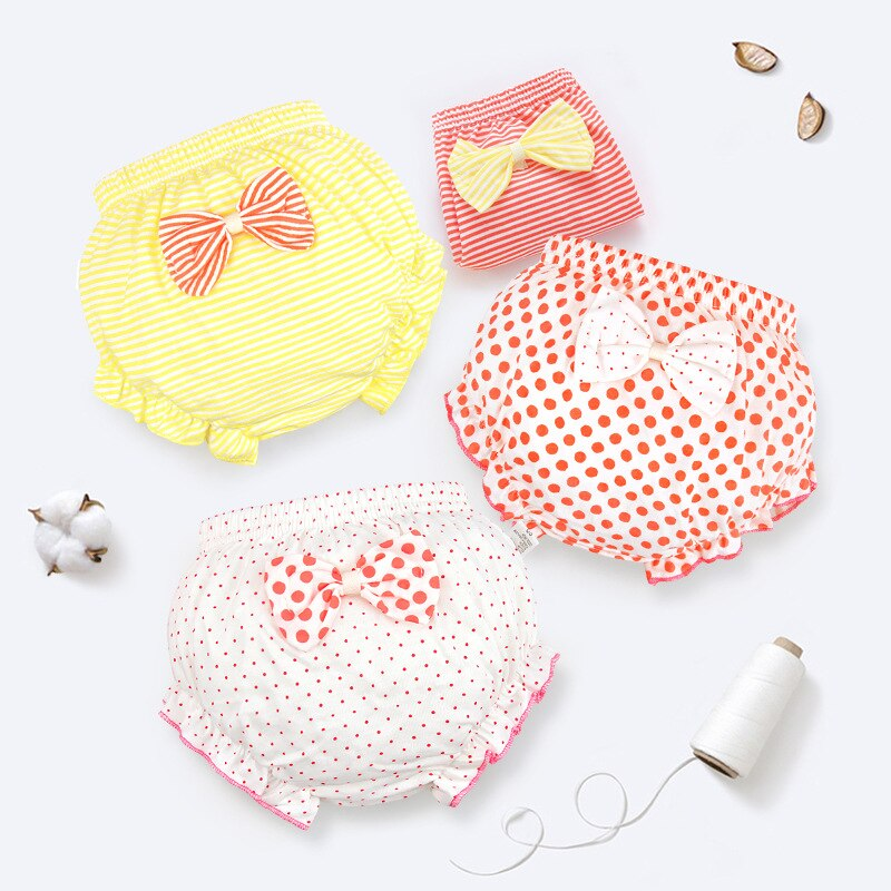 Baby 100% Cotton Panties Girls' Briefs Female For
