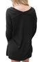 Black Soft comfort V Neck Sweater