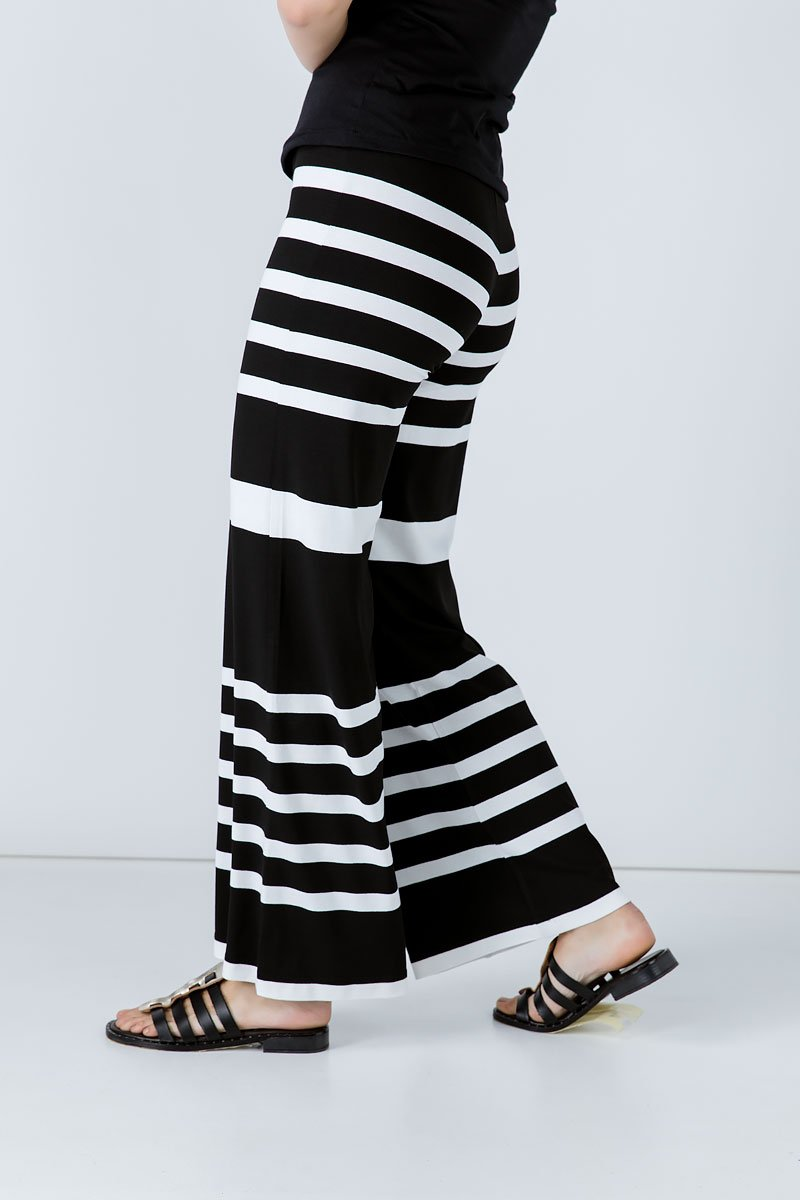 Striped Wide Leg Pants freeshipping - PuaGme