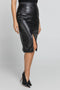 Black Faux Leather Pencil Skirt by Conquista Fashion freeshipping - PuaGme